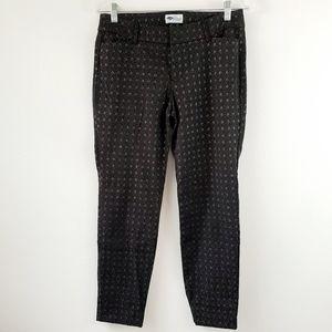 Old Navy Pixie Black Silver Geo Pattern Pants